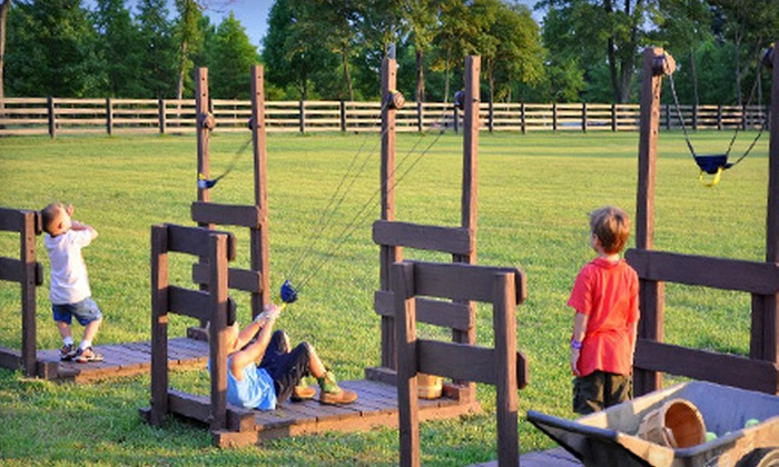 Bonnybrook Farms - Clarksville: One Day Fall Farm Festival Admission for Two with Hayrides, Corn Maze, and Games at Bonnybrook Farms in Clarksville. Six Dates Available.