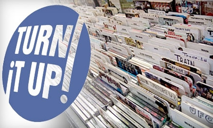 Turn It Up! - Multiple Locations: $10 for $20 Worth of CDs, DVDs, and More at Turn It Up!