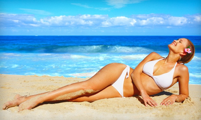 Hollywood Tans - Multiple Locations: Mystic Tan or Mystic Tan with Red-Light Therapy or UV Tan at Hollywood Tans (Up to 62% Off)