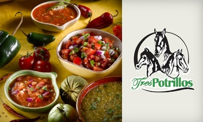 Tres Potrillos - Multiple Locations: $12 for $25 Worth of Mexican Fare and Drinks at Tres Potrillos. Choose From Two Locations.