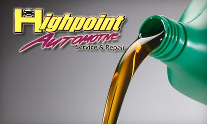 Highpoint Automotive and Cycle Service - Richmond: $29 for a Synthetic Oil Change and Tire Rotation from Highpoint Automotive and Cycle Service