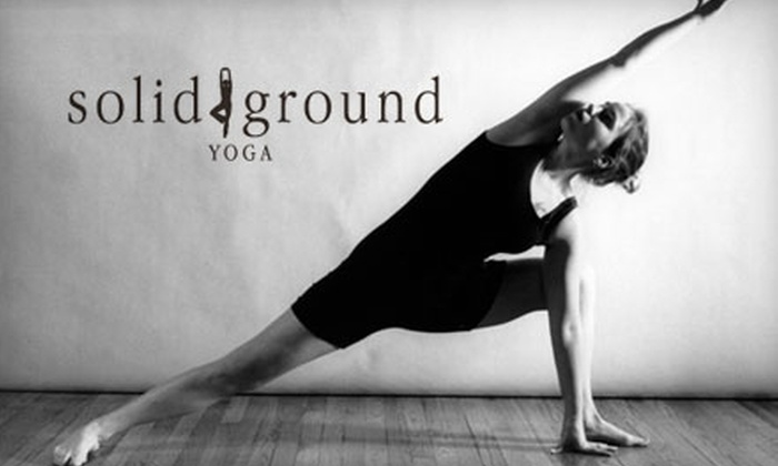 Solid Ground Yoga - Midlothian: $27 for Four Drop-In Classes at Solid Ground Yoga in Midlothian (Up to $60 Value)