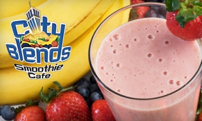 City Blends Smoothie Cafe Tucson - Rincon Heights: $4 for $8 Worth of Fresh Juice and Smoothies from City Blends Smoothie Cafe