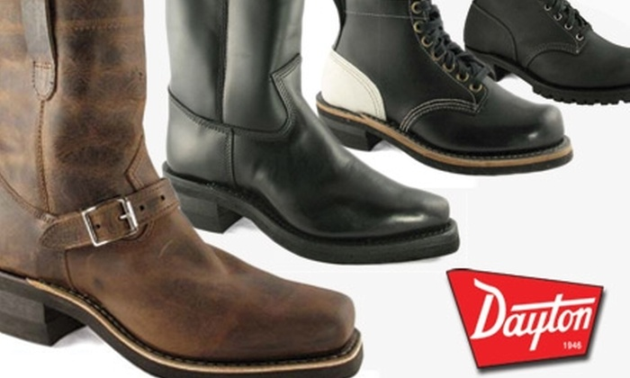 Dayton Boots - Hastings-Sunrise: $25 for $100 Toward Boots and More at Dayton Boots