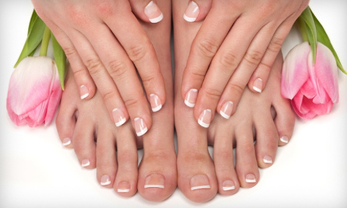 Bellezza Day Spa - San Bruno: $29 for a Hot Hydration Manicure and Pedicure at Bellezza Day Spa ($60 Value)