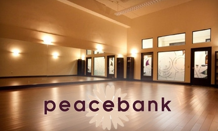 Peacebank Yoga - Centennial: $35 for Five Yoga Classes Plus $10 Groupon to Boutique at Peacebank Yoga in Redwood City ($85 Value)