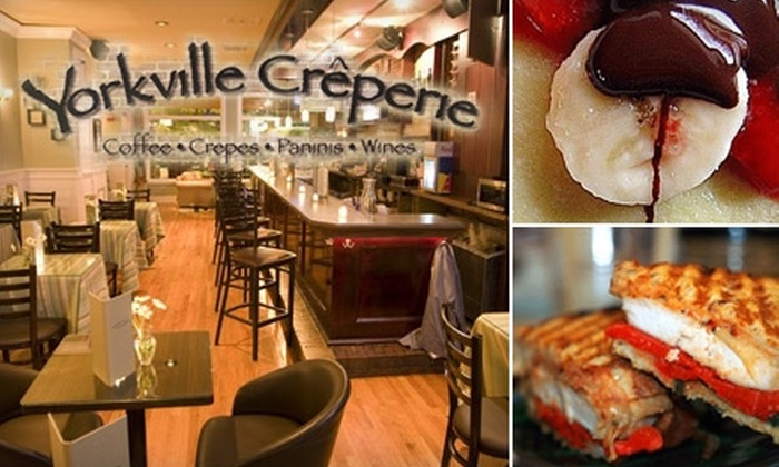 Yorkville Creperie New York - Upper East Side: $15 for $30 Worth of Sweet and Savory Crêpes and Drinks at Yorkville Crêperie