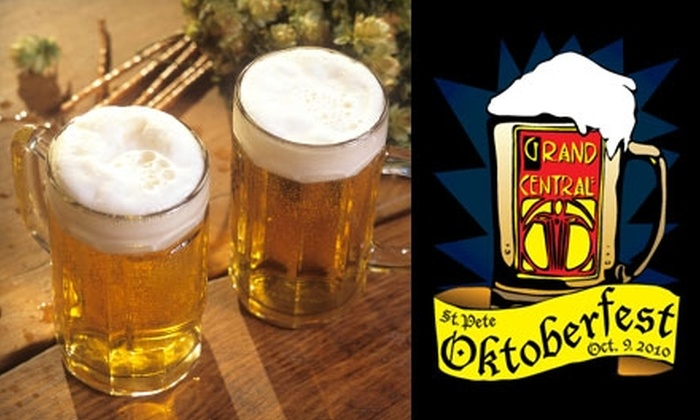 St. Pete Oktoberfest - St. Petersburg: Admission and Craft Beer Tasting at St. Pete Oktoberfest on Saturday, October 9. Two Options Available (Up to $60 Value).