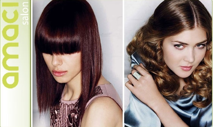 Amaci Salon - Bay Village: $49 for a Haircut, Blow Dry, and Waxing Service