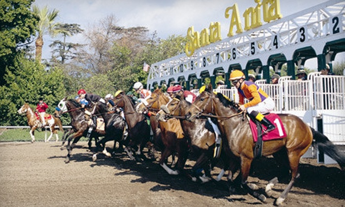 Santa Anita Park - Arcadia: Horseracing Outing with Clubhouse Admission for Two, Four, or Six at Santa Anita Park in Arcadia (Up to 60% Off)
