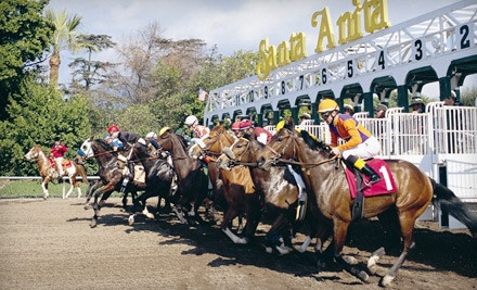 Horseracing Outing at Santa Anita Park from 1/5/12-2/26/12: Horseracing Package for 2 - Santa Anita Park in Arcadia