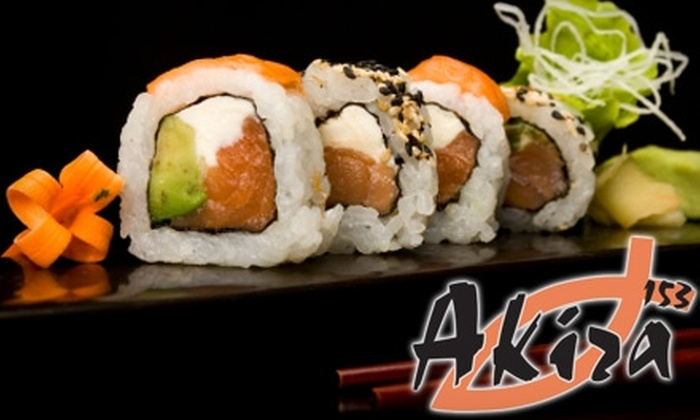 153 Akira - Wilmette: $15 for $30 Worth of Sushi and More at 153 Akira in Wilmette