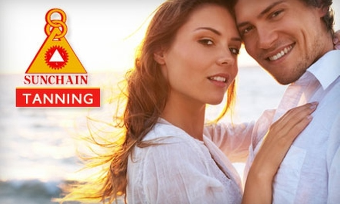 Sunchain Tanning Centers - Multiple Locations: $28 for One Month of Unlimited Premier Bed Tanning and One Mystic Spray Tan at Sunchain Tanning ($70 Value)