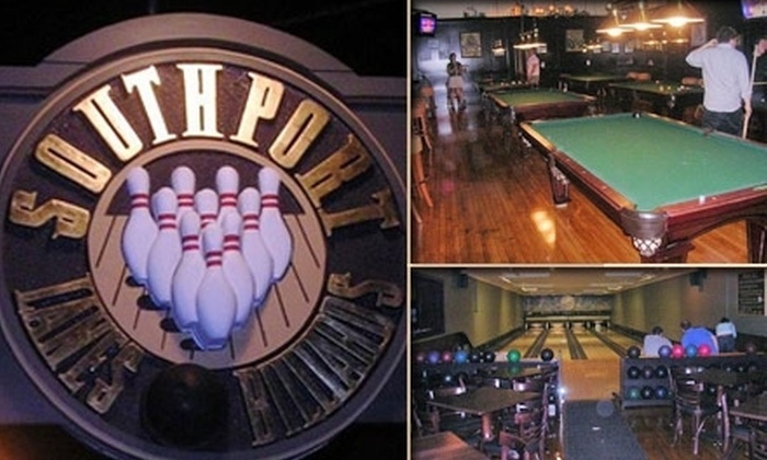 Spare Time - Multiple Locations: $10 for One Hour of Bowling Including Shoes at Southport Lanes & Billiards, Seven Ten Lounge, or Seven Ten Lanes (Up to $47 Value)