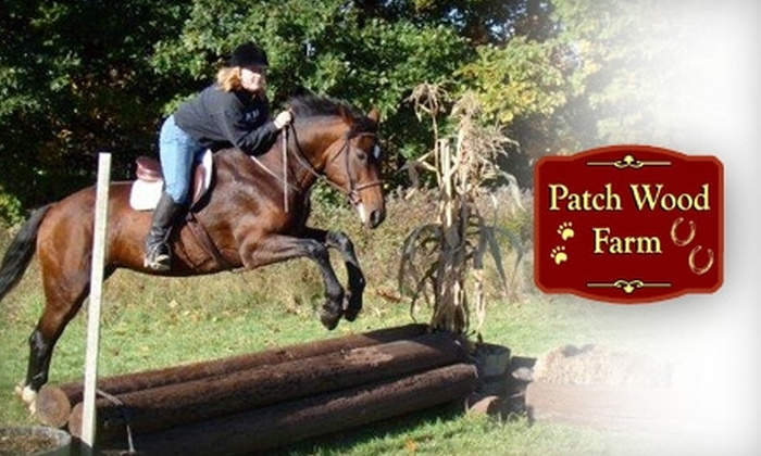 Patch Wood Farm - Sandown: $40 for Two Private Riding Lessons or One Group Polo Lesson at Patch Wood Farm in Sandown, New Hampshire