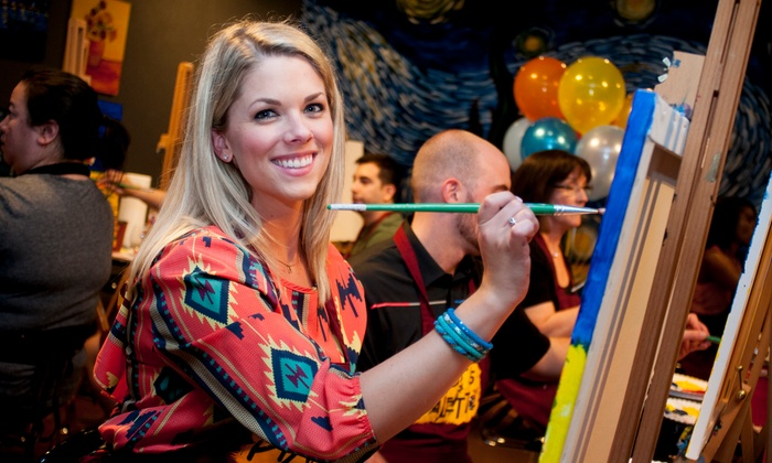 Pinot's Palette - Pinot's Palette Johns Creek: Two- or Three-Hour BYOB Painting Class at Pinot's Palette (Up to 23% Off)