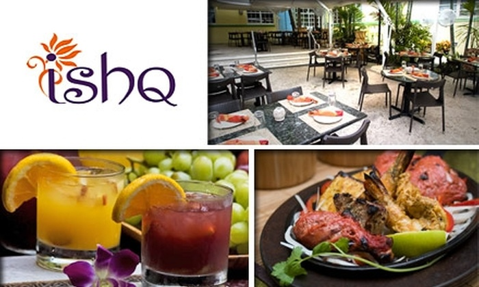 Ishq - Flamingo / Lummus: $20 for $45 Worth of Indian Cuisine and Drinks at Ishq