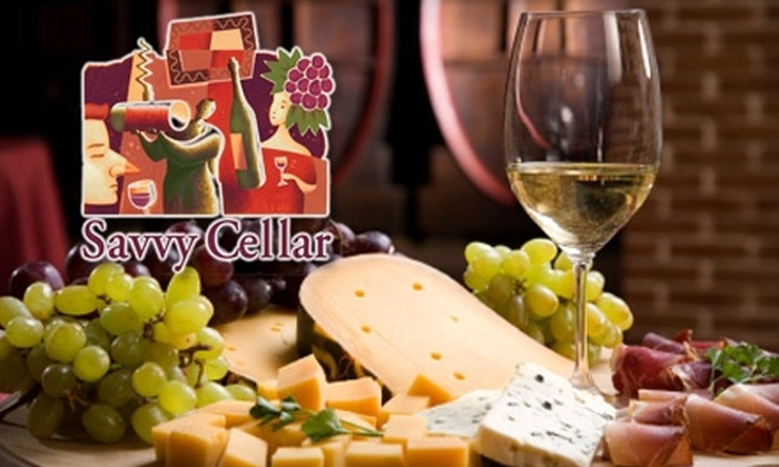 Savvy Cellar Wines - Old Mountain View: $25 for $50 of Fine Wine and Light Fare at Savvy Cellar Wine Bar & Wine Shop.