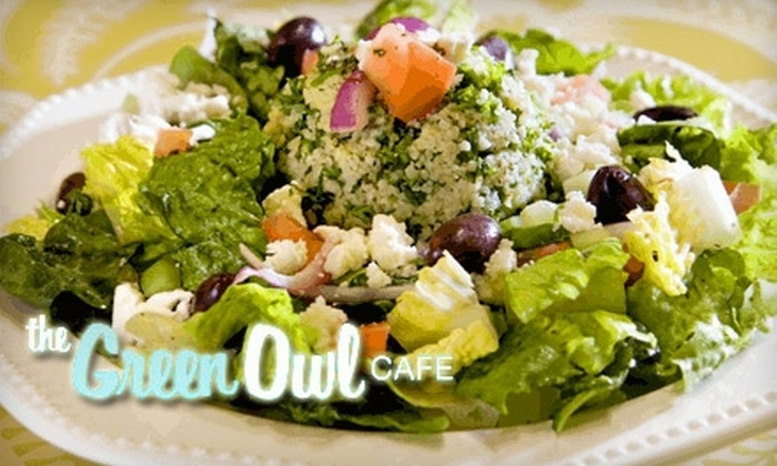 The Green Owl Cafe - Marquette: $10 for $20 Worth of Vegetarian and Vegan Cuisine at The Green Owl Cafe