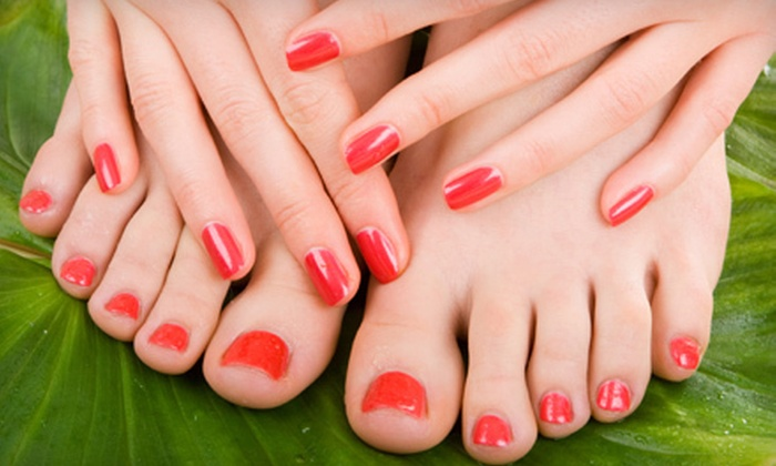 King Nail Spa - Serramonte,Westview: Gel Manicure or Deluxe Mani-Pedi at King Nail Spa in Daly City (Up to 51% Off)