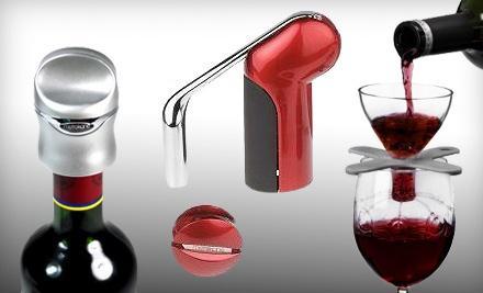 Houdini Wine-Accessories Gift Box: Black (a $66 value) - Houdini Wine Accessories Gift Set in