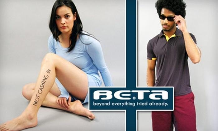 Beta Clothing Designs - Downtown Toronto: $20 for $50 Worth of Apparel from Beta Clothing Designs
