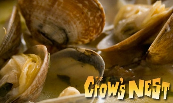 The Crow's Nest Restaurant - Eastside: $20 for $40 Worth of Fine Surf and Turf Fare at Dinner at The Crow's Nest Restaurant in Santa Cruz (or $10 for $20 Worth of Lunch)