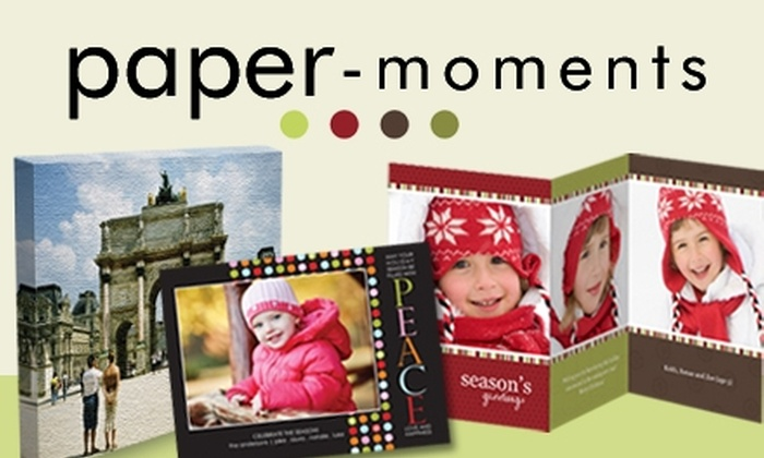 Paper-Moments.com: $20 for $50 Worth of Holiday Cards, Canvas Prints, and Other Merchandise at Paper-Moments.com
