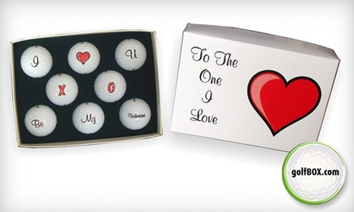 Golfbox.com - Dallas: $25 for a Valentine's Day Box of Decorated Golf Balls from Golfbox.com ($55 Value)