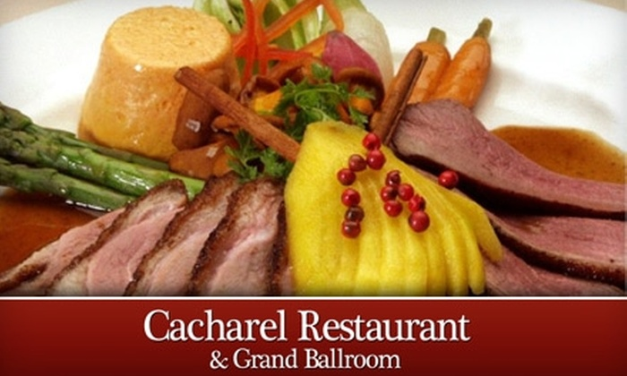 Cacharel Restaurant & Grand Ballroom - Parkway North: $30 for $60 Worth of Fine Dining Fare at Cacharel Restaurant & Grand Ballroom in Arlington