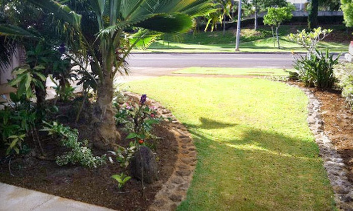 Hawai'i Green Lawns & Irrigation - Goose Island: One-Hour Spring Cleanup for Up to 3,000 or 4,000 Sq. Ft. of Lawn from Hawai'i Green Lawns & Irrigation (Up to 51% Off)