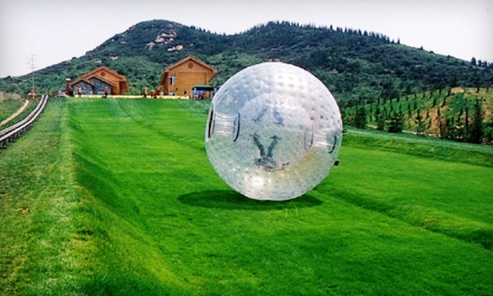 Eagle Falls Ranch - Eminence: $20 for Two Tickets to a Zorb-Ball Ride at Eagle Falls Ranch in Eminence