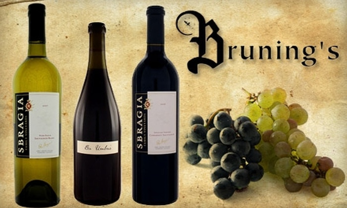 Bruning's Wine Cellar - Beavercreek: $9 for a Wine Tasting at Bruning's Wine Cellar in Beavercreek ($18 Value). Select From Four Dates.