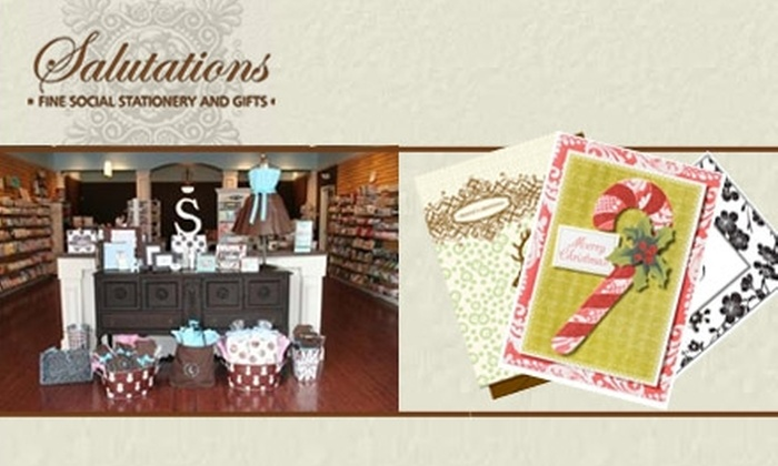Salutations  - Ballantyne West: $25 for $50 Worth of Personalized Holiday Cards, Stationery, Invitations, Gifts, and More