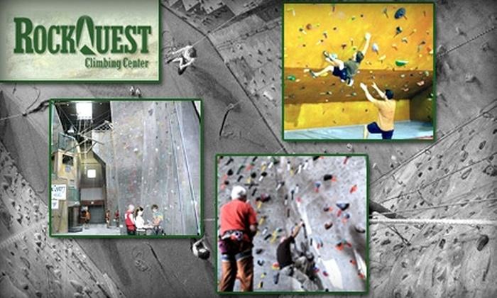 RockQuest Climbing Center - Sharonville: $17 for a Climbing Starter Package at RockQuest Climbing Center ($35 Value)