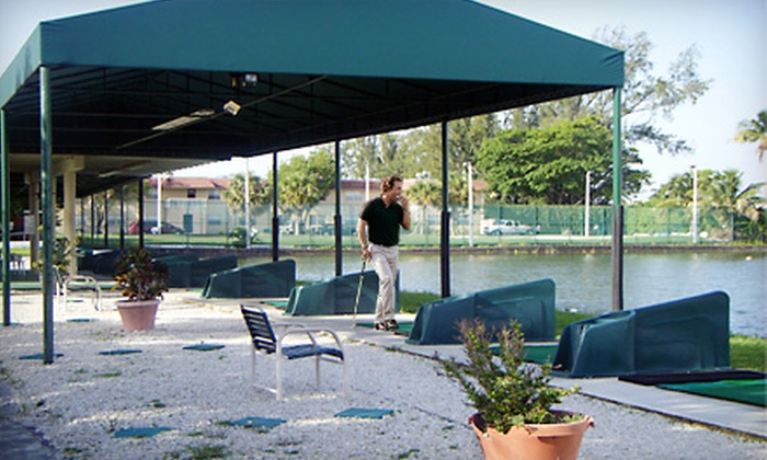 The Aqua Golf Driving Range - Pembroke Park: $8 for Three Buckets of Balls and Soft Drink at The Aqua Golf Driving Range in Pembroke Park (Up to $20 Value)