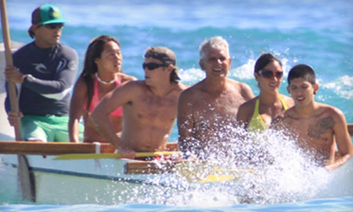 Big Wave Dave Surf Co. - Waikiki: $55 for a Group Surf Lesson and Outrigger-Canoe Ride from Big Wave Dave Surf Co.