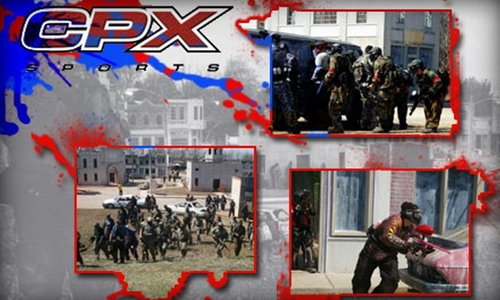 CPX Sports Paintball - Joliet: $24 for Open Play, Equipment, and Paintballs at CPX Sports ($49 Value)