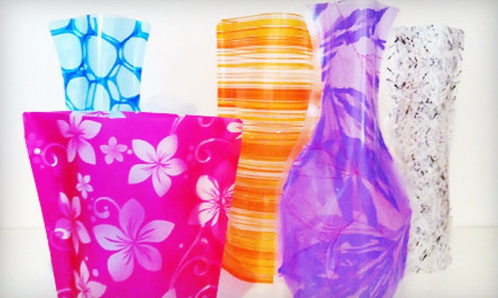 Vazed 101: 5 or 10 Collapsible PVC Vases from Vazed 101 (Up to 70% Off)