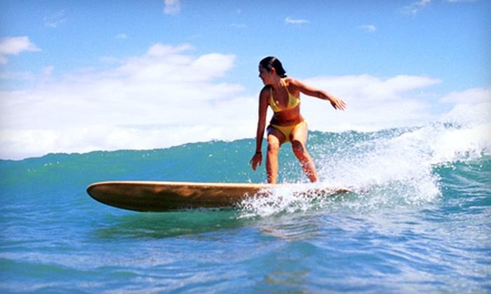 Hawaiian Surf Adventures - Hawaii Kai: Two-Hour Surf Lesson from Hawaiian Surf Adventures (51% Off). Three Options Available.