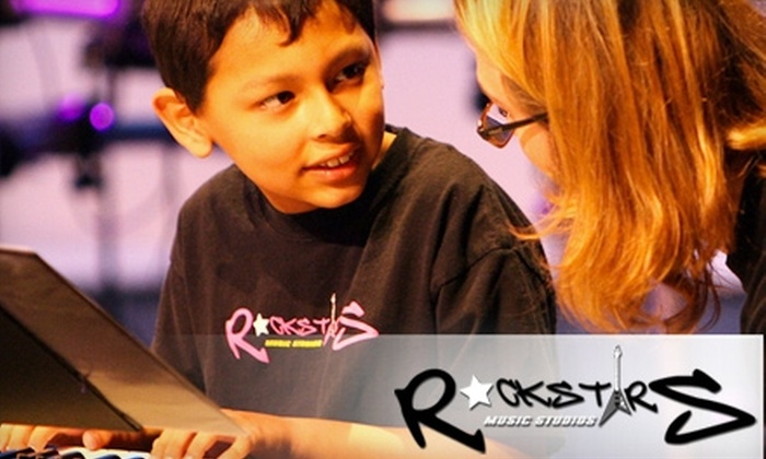 RockStars Music Studios - Garfield: $35 for Four Group Guitar or Piano Lessons at RockStars Music Studios in Huntington Beach ($75 Value)