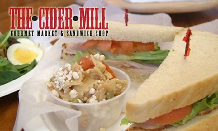 The Cider Mill - Downtown Scottsdale: $5 for $10 Worth of Fresh Sandwiches, Salads, and Gourmet Market Goods at The Cider Mill