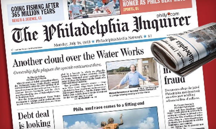 """""""Philadelphia Inquirer""""  - Center City East: $26 for a 26-Week Sunday Subscription to the """"Philadelphia Inquirer"""" ($55.12 Value)"""