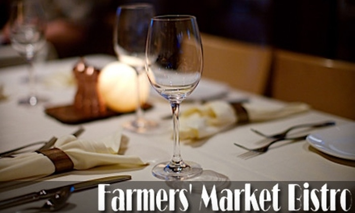 Farmers' Market Bistro - Old City: $20 for $40 Worth of Fresh, Organic Fare at Farmers' Market Bistro