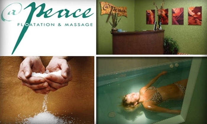 At Peace Floatation and Massage - Riverwalk At Colleyville: $35 for a One-Hour Floatation Session at At Peace Floatation and Massage in Colleyville ($75 Value)