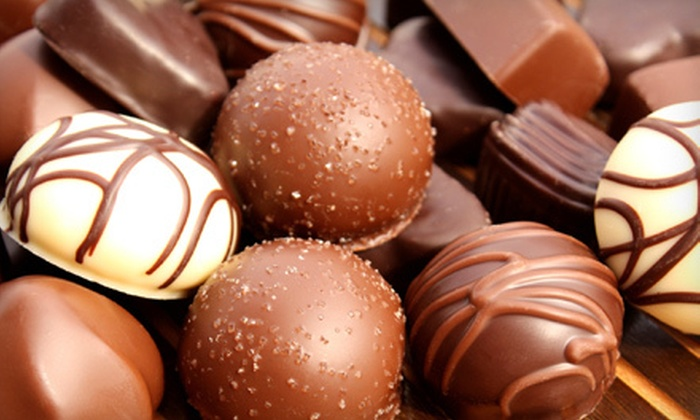 Chocolates by Mark - Clear Lake: Chocolate-Covered Strawberries or Truffles in a Chocolate Box at Chocolates by Mark (Half Off)