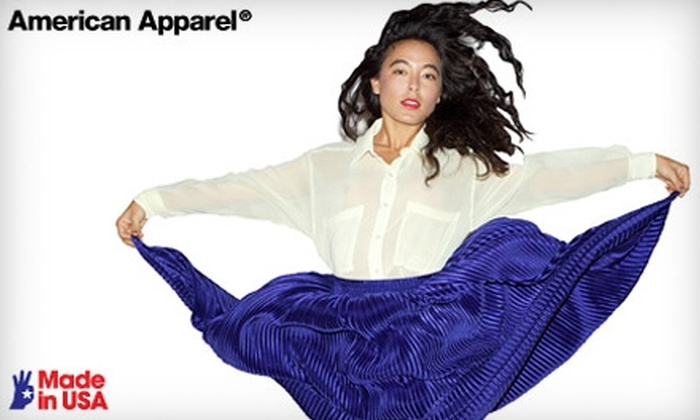 American Apparel - Wrentham: $50 for $100 Worth of In-Store Clothing and Accessories at American Apparel Outlet