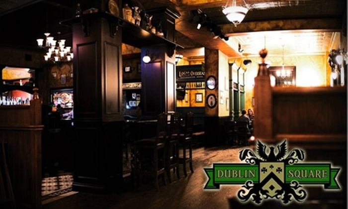 Dublin Square Irish Pub - East Lansing: $15 for $30 Worth of Dinner Fare and Drinks at Dublin Square Irish Pub (or $5 for $10 Worth of Lunch Fare)