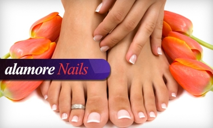 alamore Nails - Five Oaks: $25 for a French Mani-Pedi at alamore Nails in Beaverton ($50 Value)