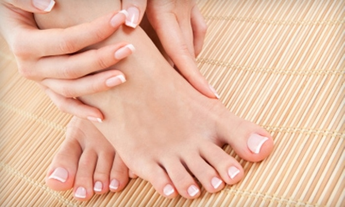 Envy Salon - Rocky River: $40 for a Shellac Manicure and a Pedicure at Envy Salon in Rocky River ($81 Value)